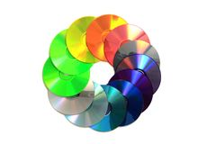 Color CD and DVD Stock Photography