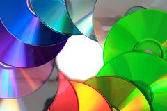 Color CD and DVD Royalty Free Stock Image