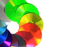 Color CD and DVD Stock Images