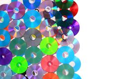 Color CD and DVD Royalty Free Stock Images