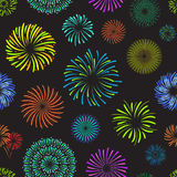 Color Celebration Fireworks Background Pattern . Vector Royalty Free Stock Photos