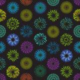 Color Celebration Fireworks Background Pattern . Vector Stock Image