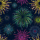 Color Celebration Fireworks Background Pattern. Vector Royalty Free Stock Photo