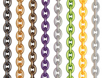 Color chain. Set of color chain. 3d render royalty free illustration
