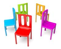 Color chairs Stock Images