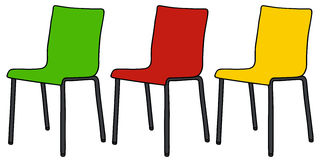 Color chairs Stock Photography