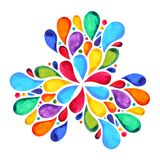 7 color of chakra mandala symbol concept, flower floral leaf. Watercolor painting hand drawn icon, illustration design sign royalty free illustration