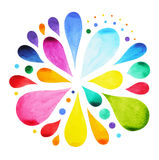 7 color of chakra mandala symbol concept, flower floral, watercolor painting royalty free illustration