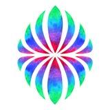 Color chakra mandala symbol concept, watercolor painting icon, illustration sign hand drawing. Color chakra mandala symbol concept, watercolor painting icon royalty free stock image