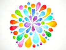 7 color of chakra mandala symbol icon concept flower floral pencil. Color hand drawing illustration design stock illustration