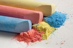 Color chalk Royalty Free Stock Photo