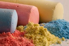 Color chalk Royalty Free Stock Photography