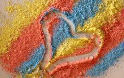 Color chalk Stock Photos