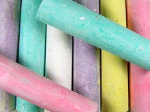 Color chalk Stock Photography
