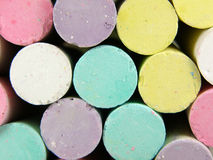 Color chalk Stock Images