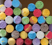 Color chalk close-up Royalty Free Stock Photography