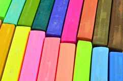 Color chalk pastels Stock Photography
