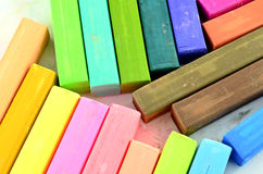 Color chalk pastels isolated Royalty Free Stock Photo