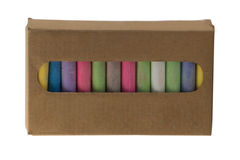 Color chalk pastels Stock Images