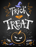 Color chalk Trick or Treat poster Stock Images
