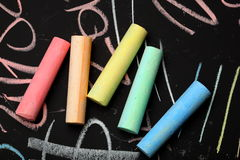 Color chalks Royalty Free Stock Photos