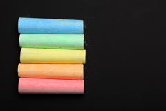 Color chalks Stock Images