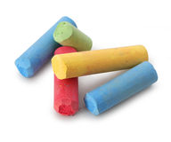 Color chalks Stock Image