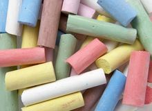 Color chalks 5 Stock Image