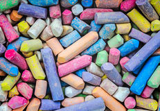 Color chalks background Stock Photography