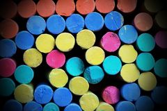 Color chalks Royalty Free Stock Images