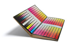 Color Chart. On White Background stock images