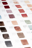 Color chart. Of watercolors paint Royalty Free Stock Photos