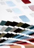 Color chart. Two types of color chart Stock Image