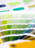 Color chart. Two types of color chart Stock Images