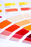 Color chart. Two types of color chart Royalty Free Stock Photography