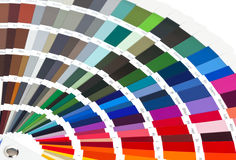 Color chart. Opened color chart close up Stock Photography