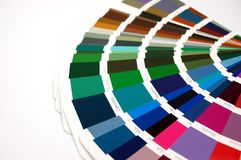 Color chart. With different color patterns Stock Photos