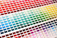 Color chart Stock Images