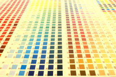 Color chart Royalty Free Stock Images