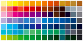 color chart background Royalty Free Stock Photos