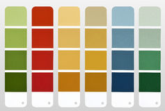Color chart stock image