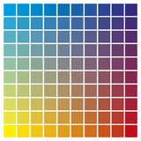 Color chart cyan yellow magenta print production color guide tin Stock Image