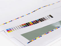 Color chart on Digital Printing Offset Industry Layout work proc. Ess Stock Images