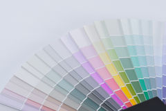 Color chart guide for renovation Royalty Free Stock Photos