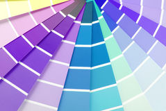 Color chart guide sampler Royalty Free Stock Photos