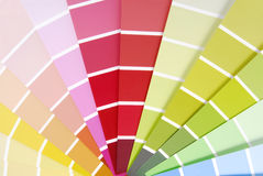 Color chart guide sampler Stock Image