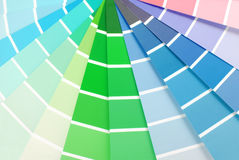Color chart guide sampler. Closeup of the color chart guide sampler stock photography
