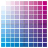 Color chart magenta cyan print production color guide ink catalo Stock Images
