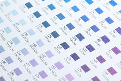 Color charts Stock Photography