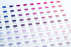 Color charts Royalty Free Stock Photos